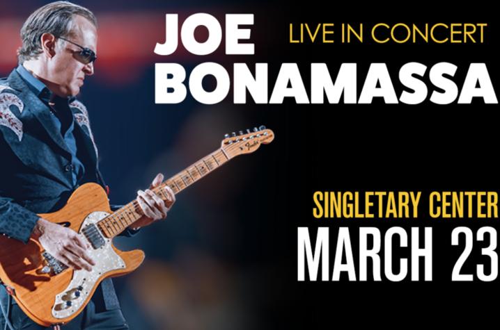 photo of Joe Bonamassa Singletary concert web slide
