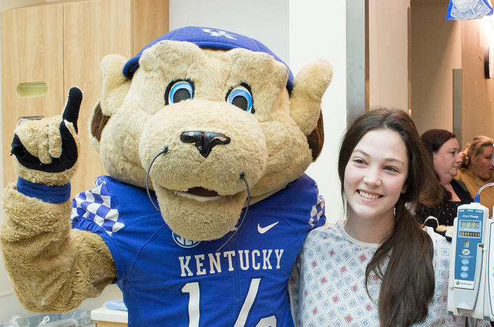 Mascot with patient