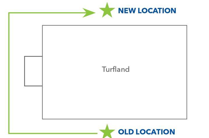 Photo of curbside prescription pickup location change
