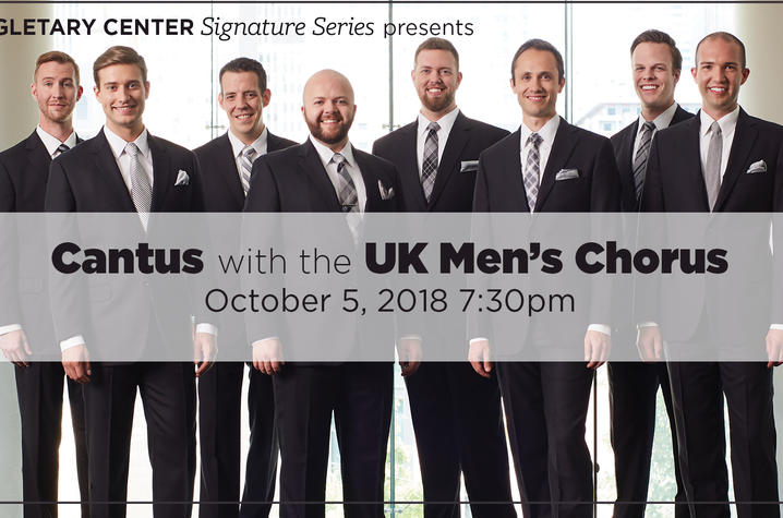 photo of web slider for Cantus concert with UK Men's Chorus
