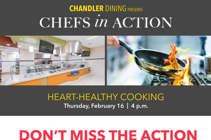 """Don't miss UK HealthCare's """"Chefs in Action"""" on Thursday Feb. 16 at 4:00 pm"""