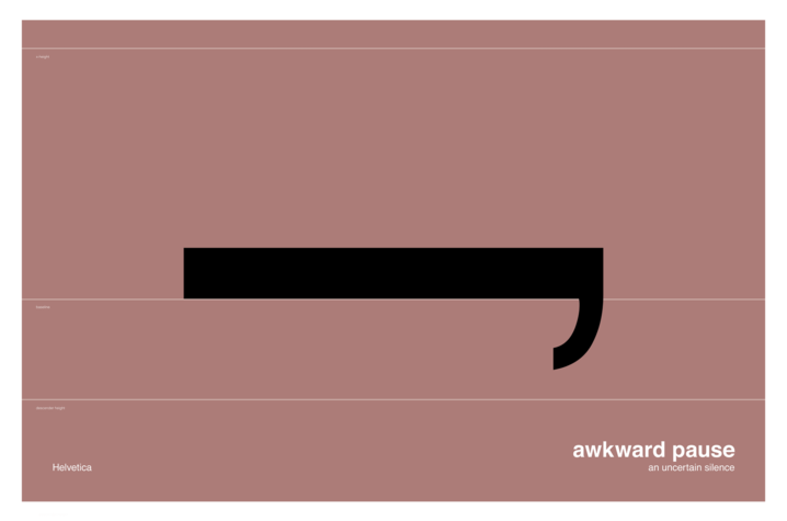 illustration of Awkward Pause by Mia Cinelli which resembles a long comma