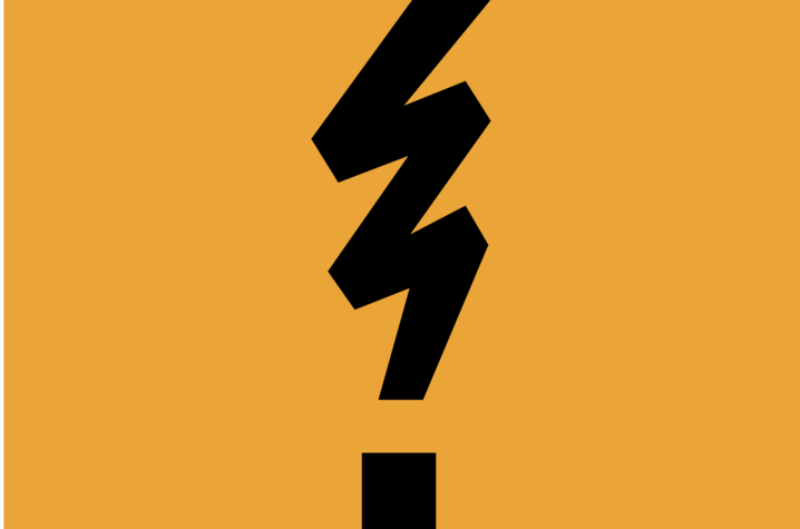 illlustration of Mia Cinelli's Frustration Point which looks like a lightning bolt merged with an exclamation point