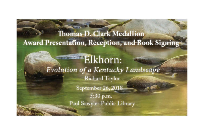 photo of 2018 Clark Medallion award announcement