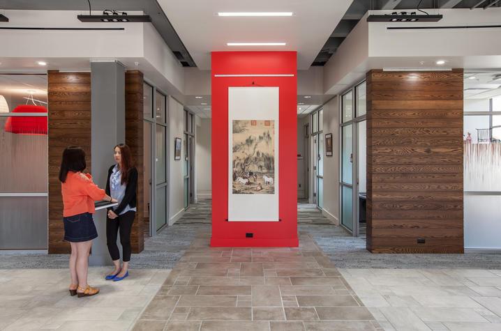 photo of inside of Confucius Institute