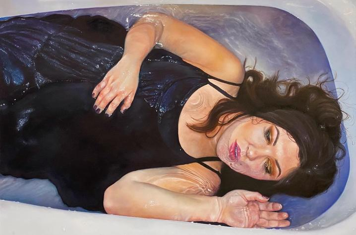 photo of painting of woman in bath by Reagan Profit