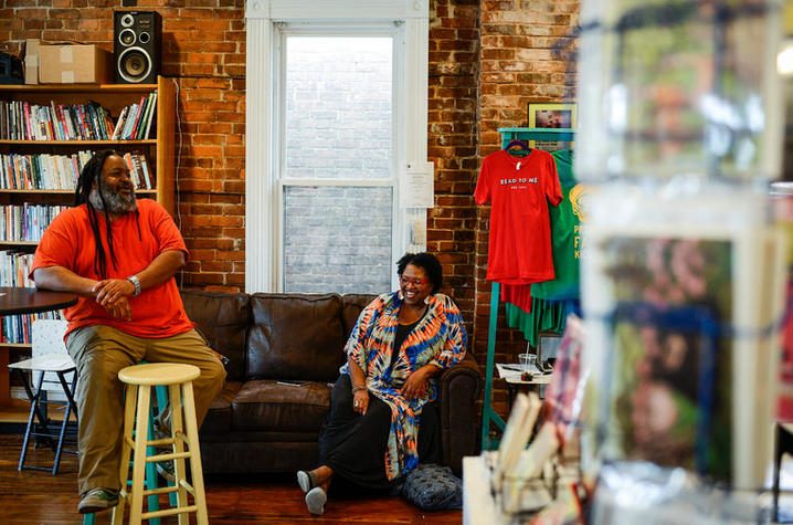 photo of Ron Davis and Crystal Wilkinson at Wild Fig