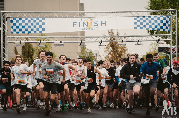 Runners at front of 5K race