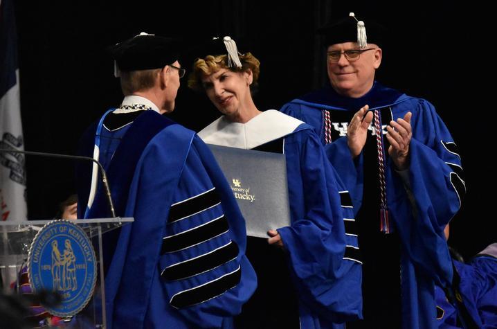 Viriginia Carter received doctorate from President Eli Capilouto
