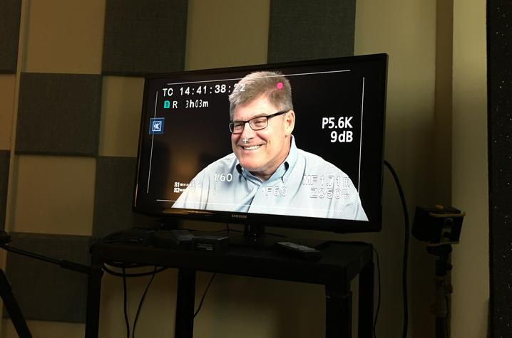 photo of Dale Baldwin interview for oral history collection