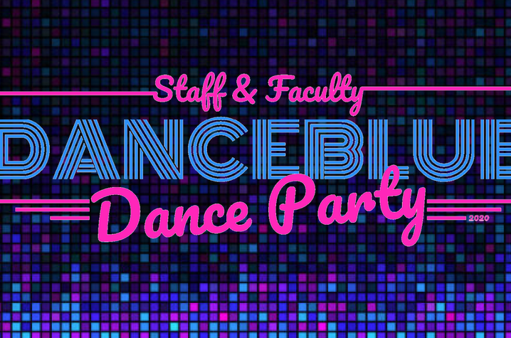 DanceBlue Staff & Faculty Dance Party graphic