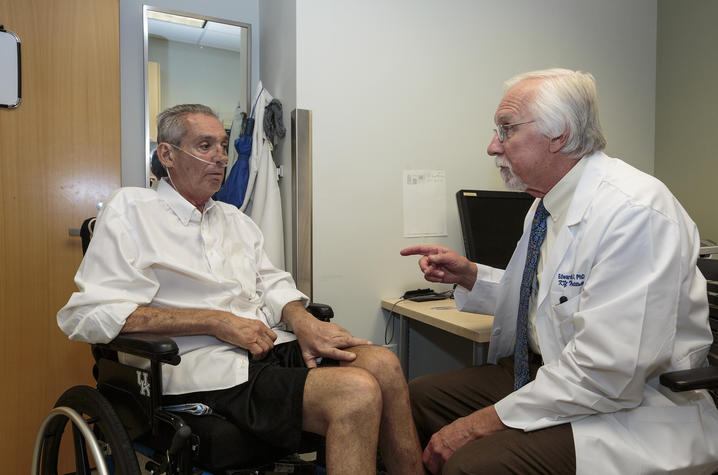 Photo of Talbott Todd with Dr. Ed Kasarskis, director of UK HealthCare's ALS Clinic
