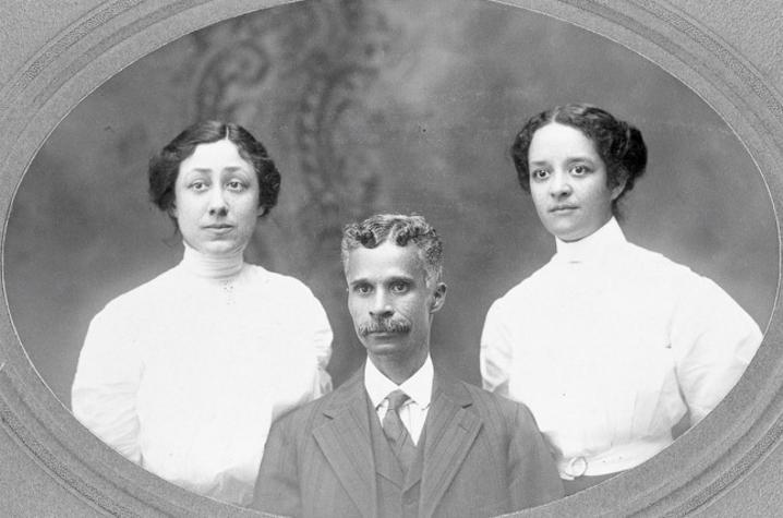 1908 black and white portrait photo of Elizbeth Finney, Thomas F Blue, Rachael Harrison