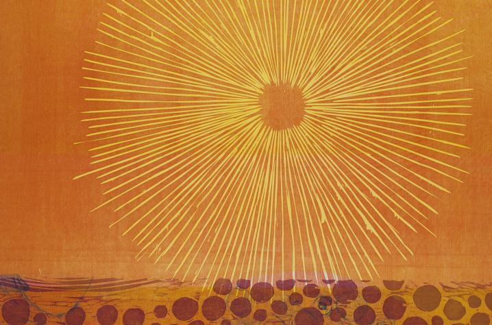 """wood engraving """"Southwestern Sky"""" by Elizabeth Foley"""