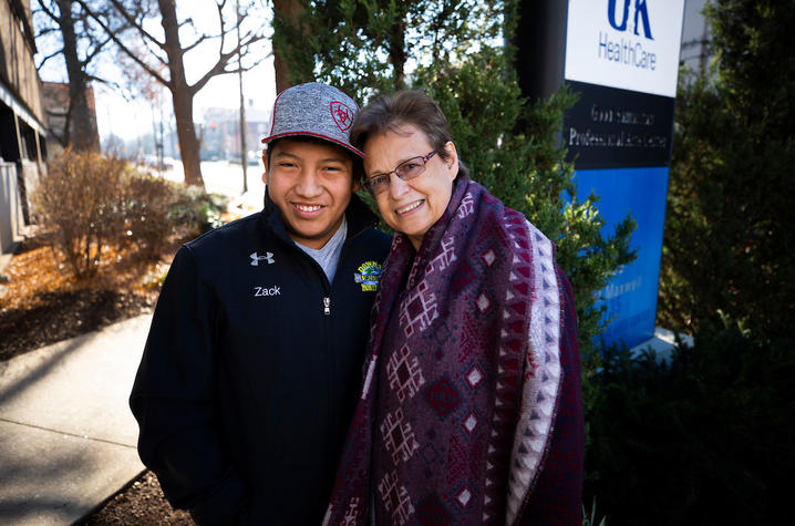 Photo of Zack Price with his mother, Nina