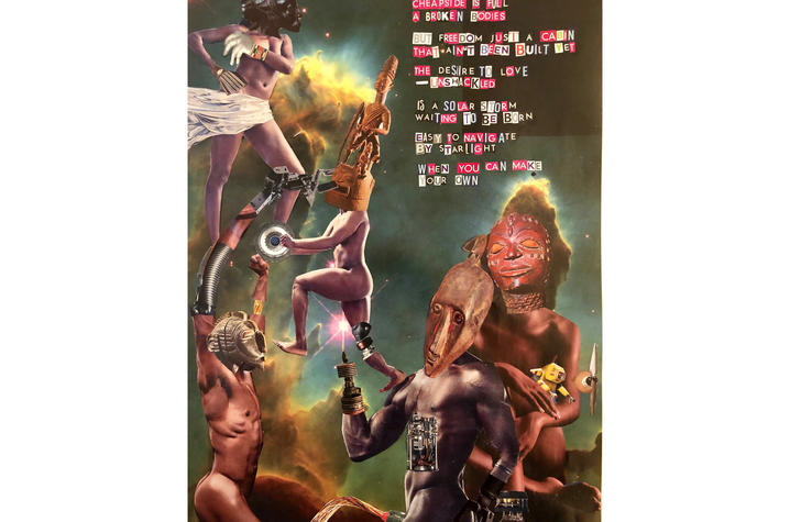 Poster advertising Frank X Walker's visual art exhibit.