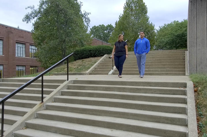 "This is a photo from the Campus Walk with UK College of Social Work Dean Justin ""Jay"" Miller"