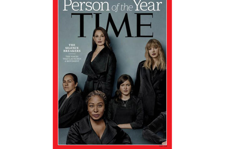 photo of Time magazine Person of the Year cover with Ashley Judd
