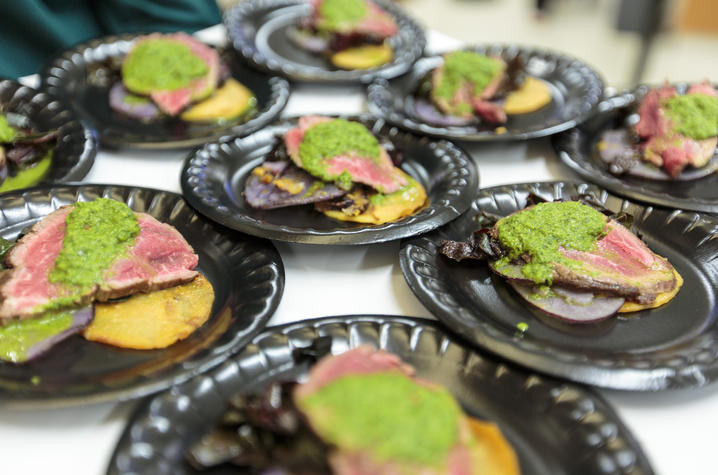 "Photo of tasty samples from ""Chefs In Action"" Photo:  James K. Morris"