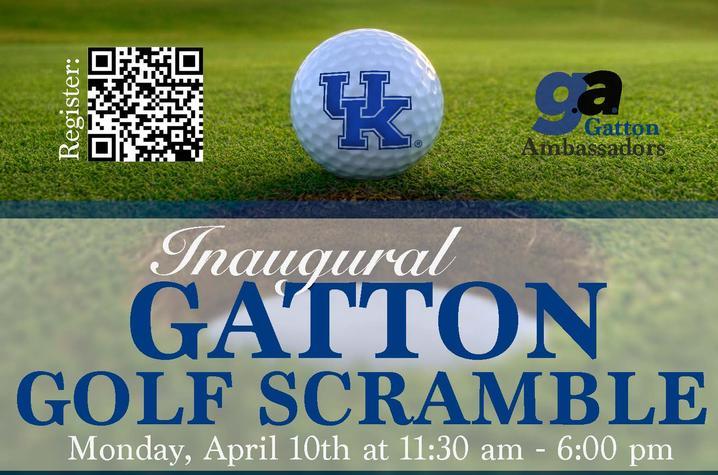 Inaugural Gatton Golf Scramble - Monday, April 10 at 11:00am