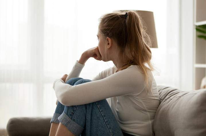 Getty Image of Girl on a Couch