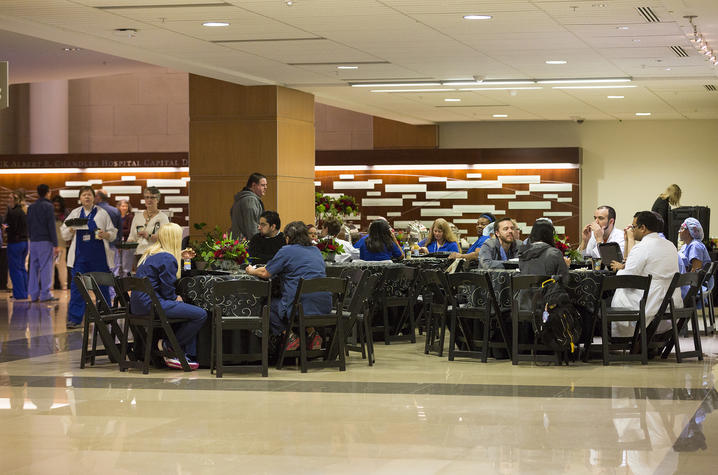 Photo of the Gill Heart and Vascular Institute's celebration