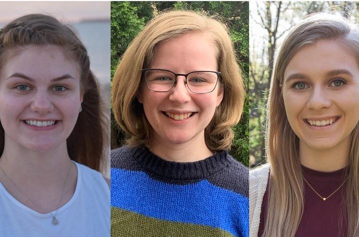 headshot photos of Kayli Bolton, Zoe Hert and Carly Karrick