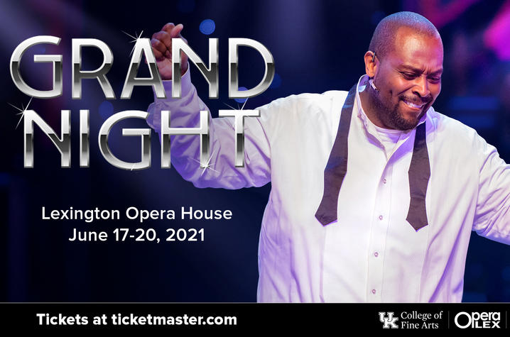 """photo of web banner with Michael Preacely performing for """"It's a Grand Night for Singing!"""" 2021"""