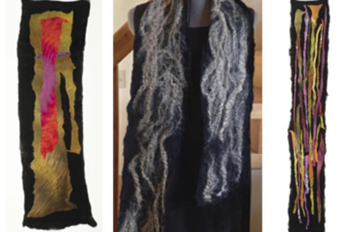 photo of fabrics for handmade fabric workshop - Fine Arts Institute