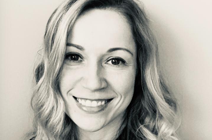 black and white headshot photo of Martina Vasil
