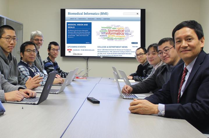 UK's Institute for Biomedical Informatics team. Dr. GQ Zhang is pictured at the far right.