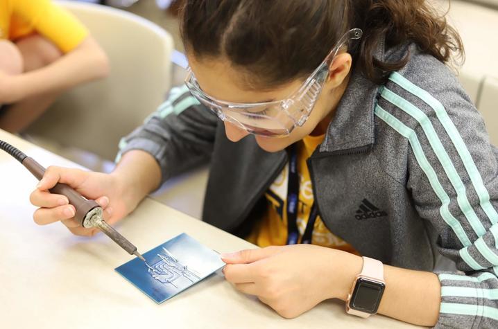 STEM camp student