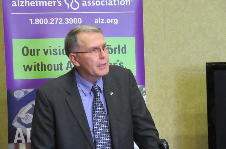 Photo of Paul Hornback, Sanders-Brown patient and Alzheimer's Association national board member.