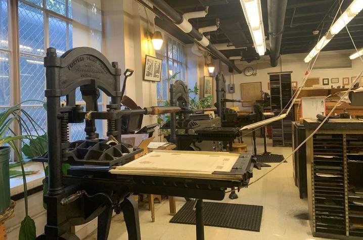 photo of press at King Library Press
