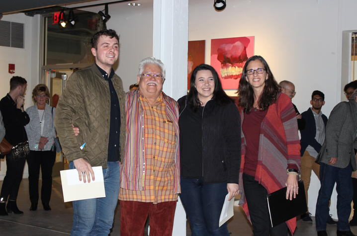 photo of Alex Lewis, Arturo Alonzo Sandoval, Aya AlJabiri and Ruth Adams - 2017 Carey Ellis Show