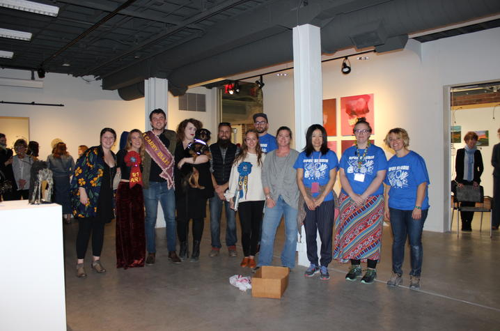 photo of winners of 2017 Carey Ellis Show and Art Graduate Student Association members