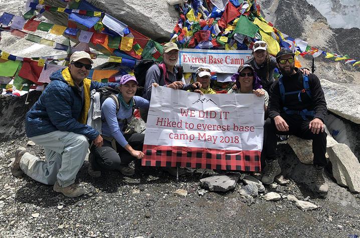 Maya Husayni at Mt. Everest Base Camp
