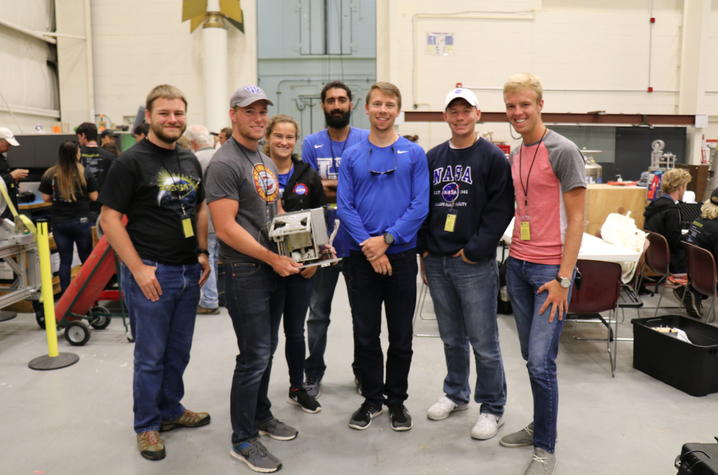 photo of UK engineering student team at NASA Wallops