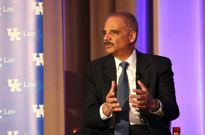 Photo of Eric Holder at UK