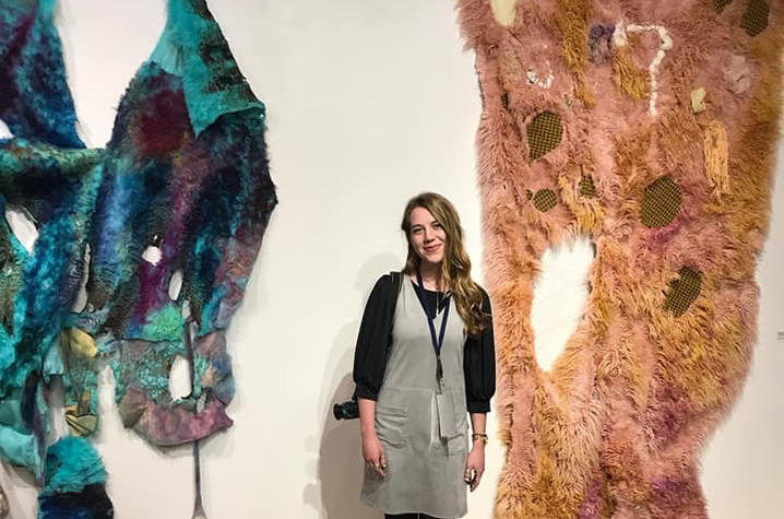 NCUR focuses on creative works in oral, poster or performance/visual arts presentations. UK Fine Arts senior Liz Moore displayed her visual art at NCUR 2018.