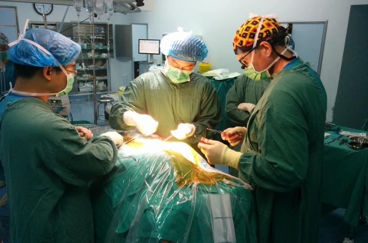 photo of DBS surgery in China