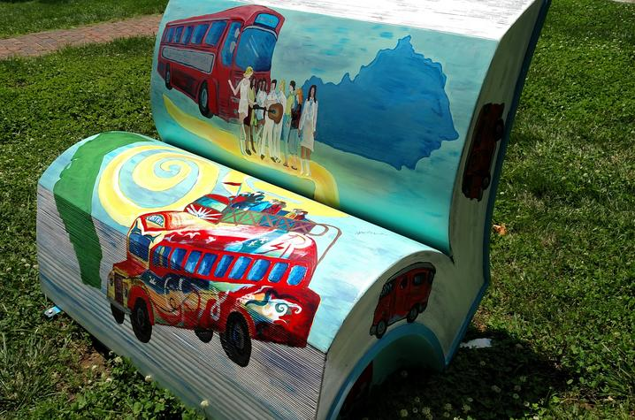 """photo of book bench of """"Famous People I Have Known"""""""