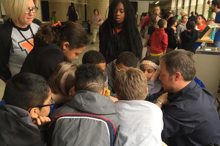 photo of students at CAER Energy Fair