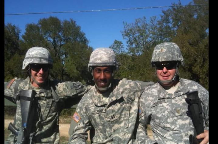 Ahmad Alexander and 2 fellow service members