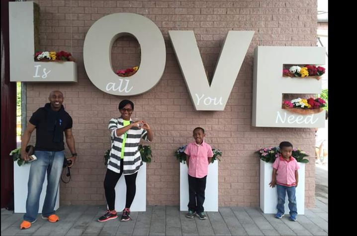 Ahmad Alexander and his family