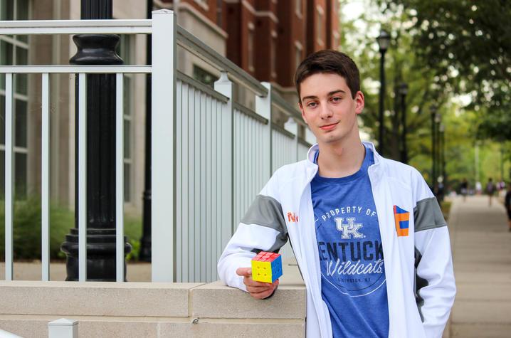 photo of UK student Lucas Etter