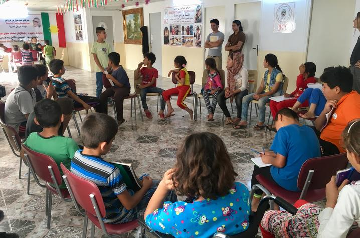 Youth empowerment workshops allowed children to share their experiences