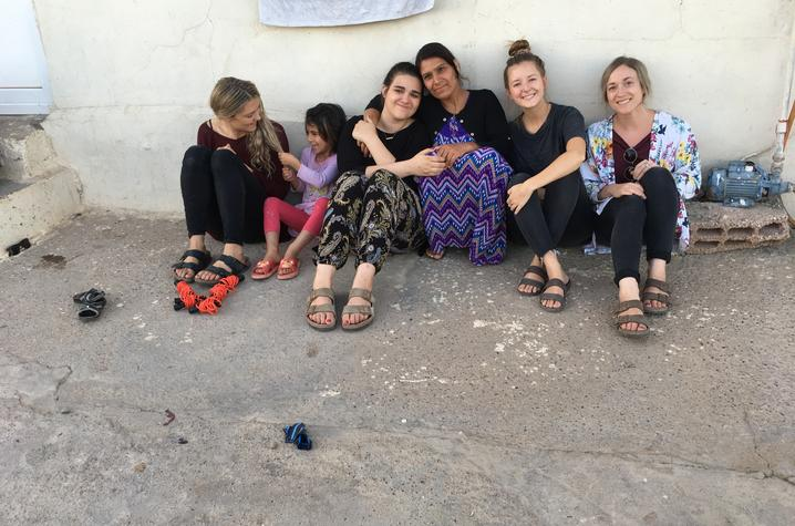 Dupler and other volunteers bonded with refugee families throughout the summer