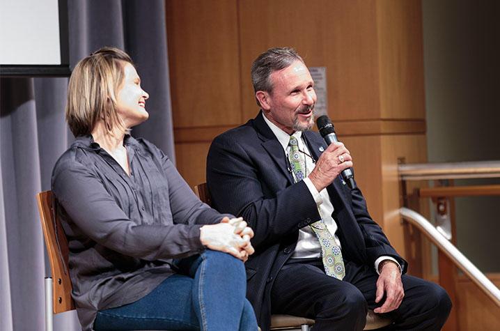 Erica Radhakrishnan and Barry Warner