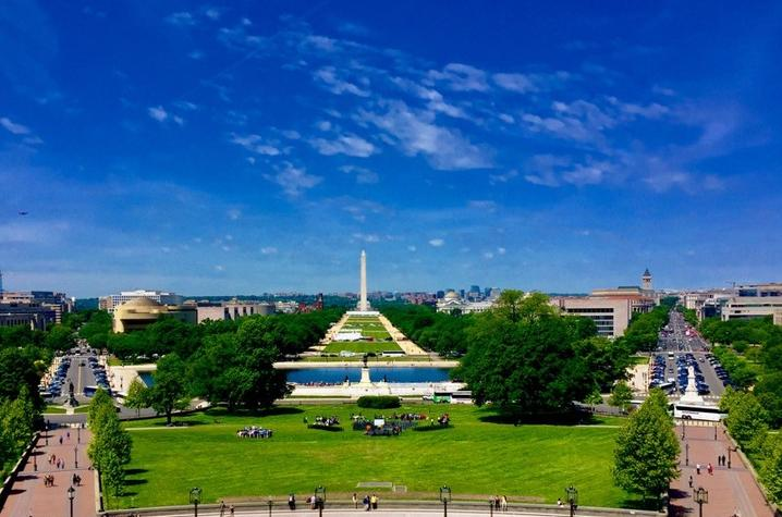 Photo looking out on the National Mall